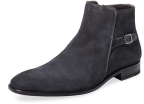 Mezlan Men's Leather Buckled Ankle Boot