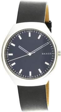 Skagen Men's Grenen SKW6385 Silver Leather Japanese Quartz Fashion Watch