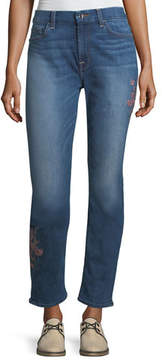 7 For All Mankind Jen7 by Embroidered Ankle Skinny Jeans, Garden City