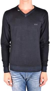 Sun 68 Men's Mcbi286177o Black Wool Sweater.