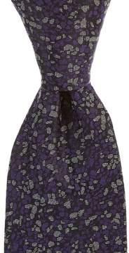 Murano Big & Tall Rock Neat Traditional Silk Tie
