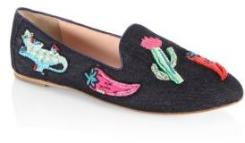 Kate Spade Saville Denim Smoking Loafers