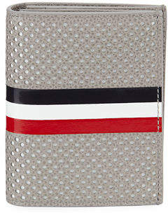 Thom Browne Double Card Holder with Striped Detail