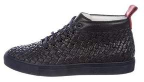 Del Toro Woven Leather Chukka Sneakers