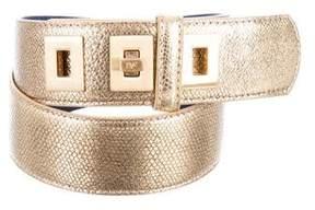 Diane von Furstenberg Metallic Waist Belt