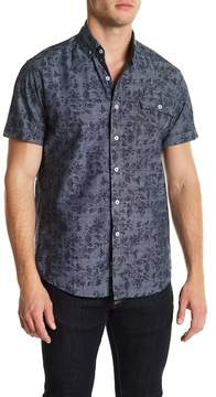 Heritage Chambray Flower Short Sleeve Slim Fit Shirt