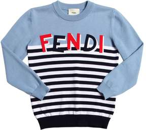 Fendi Shadow Logo Cotton Knit Sweater