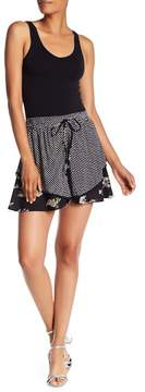 Angie Double Layer Contrast Print Shorts