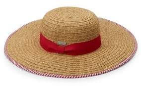 San Diego Hat Company Floppy Stripe Trim Sun Hat