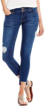 Copper Key Destructed Step Hem Ankle Skinny Jeans