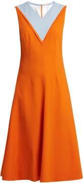 Emilia Wickstead Arlene contrast-panel stretch-crepe dress
