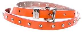 Michael Kors Studded Patent Belt