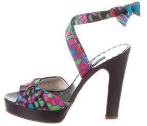 Marc by Marc Jacobs Printed Platform Sandals