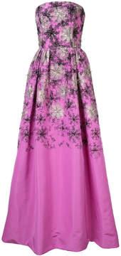 Carolina Herrera strapless floral gown