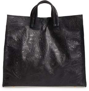 Clare Vivier Simple Flower Embossed Leather Tote