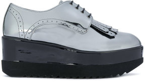 Pollini high shine lace up shoes