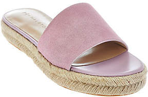 Halston H by Suede Flat Espadrille Slide -Norma