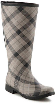 Chooka Women's Flex Fit Plaid Wide Calf Rain Boot