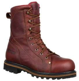 Rocky Men's 9 Three Cut Logger Steel Toe Wp Work Boot Rkk0214.
