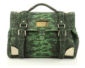 Mulberry Pre-owned: Travel Day Bag Lizard Print Leather Medium.