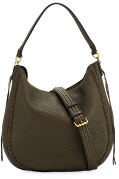 Rebecca Minkoff Convertible Pebbled Leather Hobo Bag - GREEN - STYLE