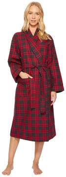 BedHead Long Sleeve Flannel Long Robe Women's Pajama