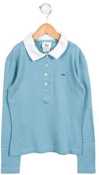 Lacoste Girls' Casual Long Sleeve Top