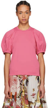 Comme des Garcons Pink Volume Sleeve T-Shirt
