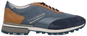 Alberto Guardiani Blue/tan Sport Man Forrest Suede Sneakers