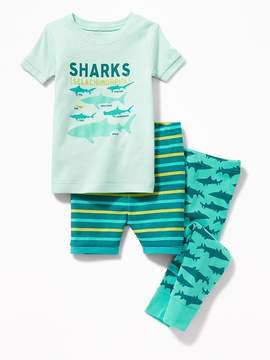 Old Navy Shark-Graphic 3-Piece Sleep Set for Toddler & Baby
