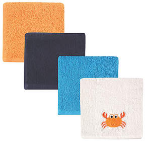 Luvable Friends Blue Crab Washcloth Set - Infant