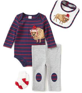 Starting Out Baby Boys Newborn-9 Months Striped Buffalo 4-Piece Layette Set