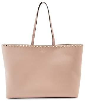 Valentino Rockstud Leather Tote Bag - Womens - Nude