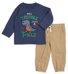 Kids Headquarters Baby Boy's Dinosaur Graphic Tee and Pants Set