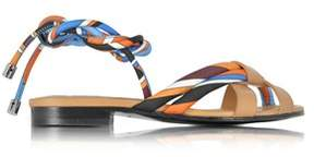 Emilio Pucci Women's Blue Silk Sandals.