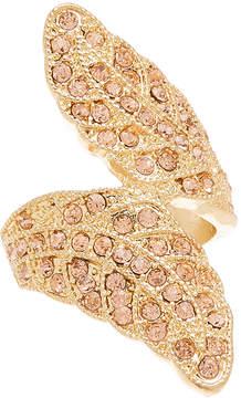 Carole Peach & Goldtone Twist Ring