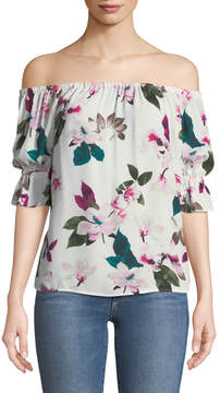 1 STATE 1.State Floral Off-The-Shoulder Blouse