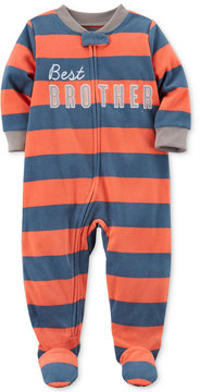 Carter's 1-Pc. Best Brother Striped Footed Pajamas, Toddler Boys (2T-5T)