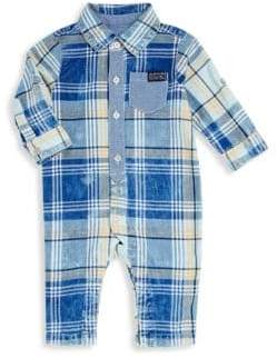 7 For All Mankind Baby Boy's Collared Denim Coverall
