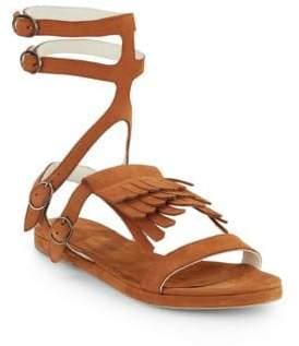 Freda Salvador Fringed Suede Gladiator Sandals