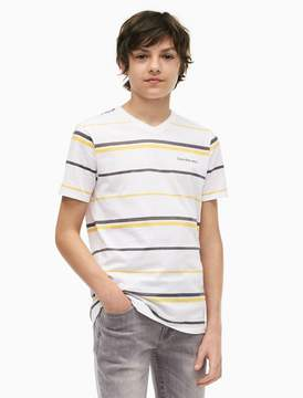 Calvin Klein boys multistripe v-neck t-shirt