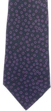 Hermes Geometric Dot Print Silk Tie