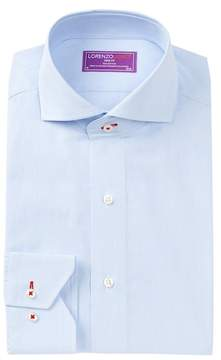 Lorenzo Uomo Micro Grid Trim Fit Dress Shirt