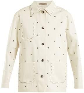 Bottega Veneta Eyelet-detail cotton-twill jacket