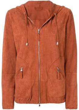 Eleventy zipped hooded jacket