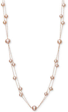 Belle de Mer Pink Cultured Freshwater Pearl (5mm, 7-1/2mm) 18 Two-Layer Necklace (Also in White Cultured Freshwater Pearl)