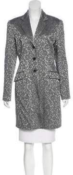 Tahari Jacquard Knee-Length Coat