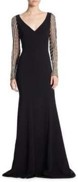 Theia Pearl Beaded Dress