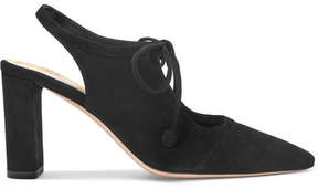 The Row Camil Cutout Suede Pumps - Black