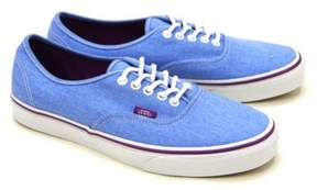 Vans Unisex Authentic Washed Twill Sneakers Blue M3.5 W5